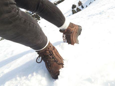 Mit dem Tingri Lady im Schnee