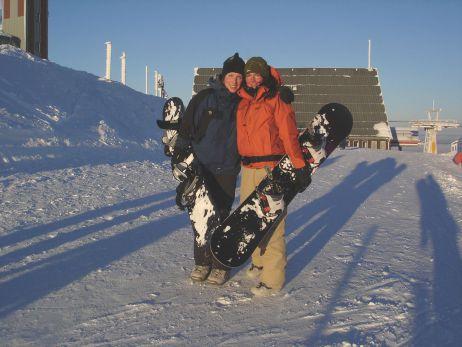 Wikki beim Snowboarden ...