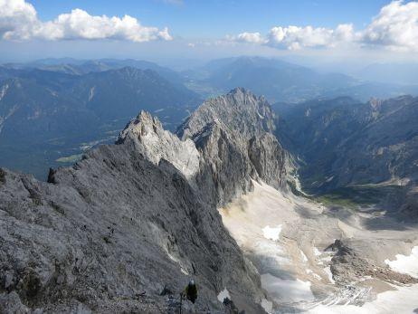 Blick ins Höllental vom Klettersteig