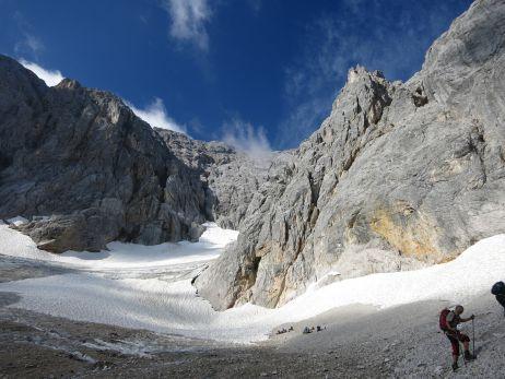 Gletscher vor dem Zugspitzklettersteig