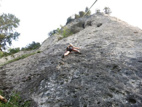 Klettern in Reutte: Seelensuppe 6b+