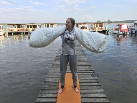 Mit dem Lamina ECO AF auf dem Bootssteg