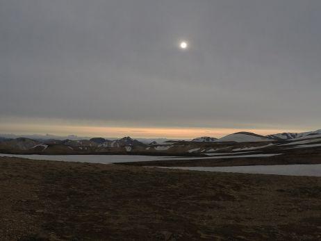 Seltener Monment: Als die Sonne mal nicht schien