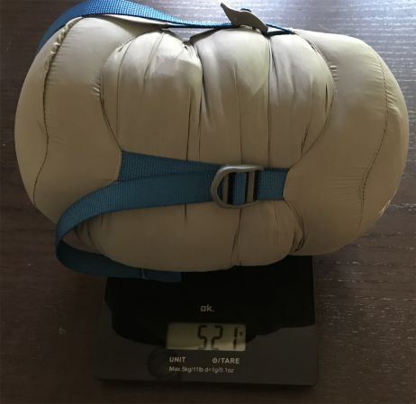 Gewicht mit Originalpacksack