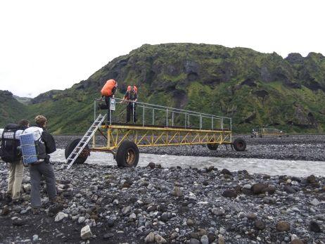 Mobile Brücken Þórsmörk