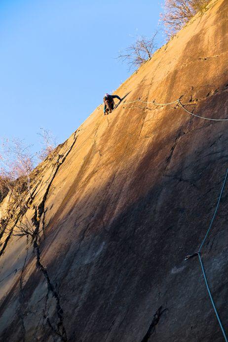 Klettern am Holzberg (Foto: Olaf Rieck)