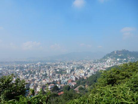 Blick über die Stadt von Swayambunath