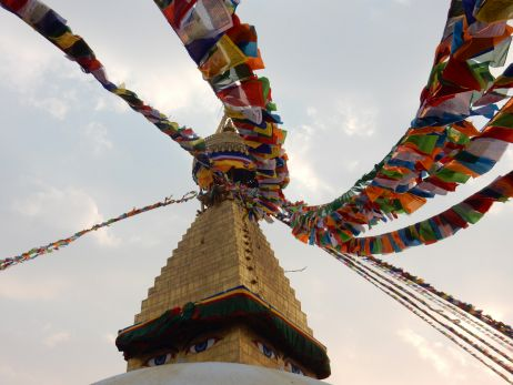 Buddhas Augen Boudhanath