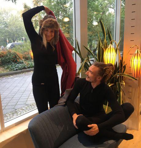 Ergänzend zur warmen Woolpower-Unterwäsche sorgt die Mufflon-Decke für Wohlgefühl