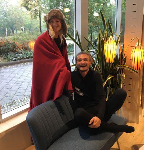 Warm, wärmer, Woolpower: Mit langer Unterwäsche von Woolpower und mit Kuscheldecke von Mufflon