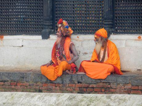 Heilige Sadhus am Pashupatinath