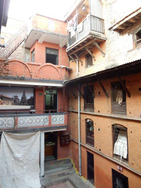 Innenhof der Strickfabrik Bhaktapur