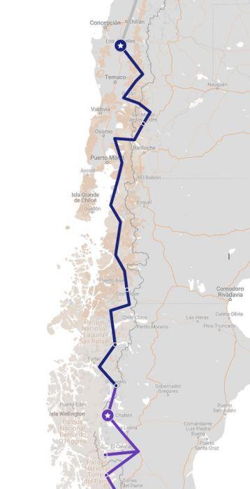 Route Nordpatagonien