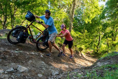 Schiebepartie auf dem Monkey Puzzle Tree Trail