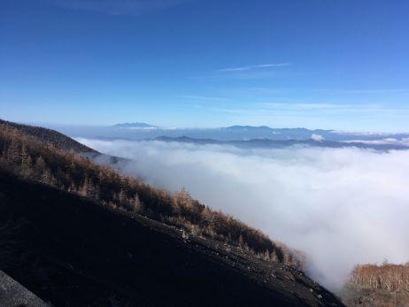 Der Blick von der 6. Station des Mount Fuji