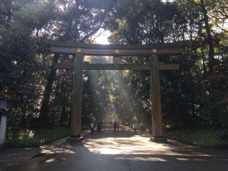 Das Tor zur grünen Idylle mitten in Tokio
