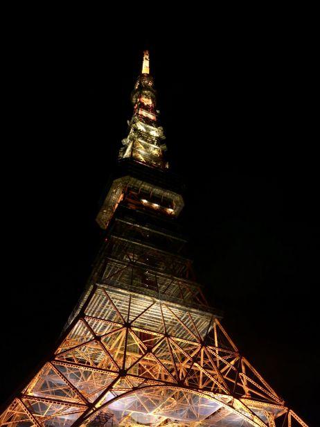 Der Tokyo Tower wurde nach dem Vorbild des Pariser Eiffelturms errichtet - und überragt diesen sogar um 6 Meter