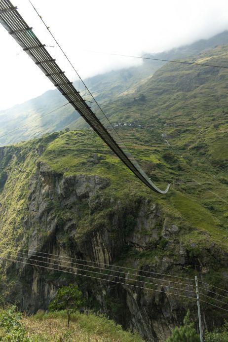 Größte Hängebrücke am Weg