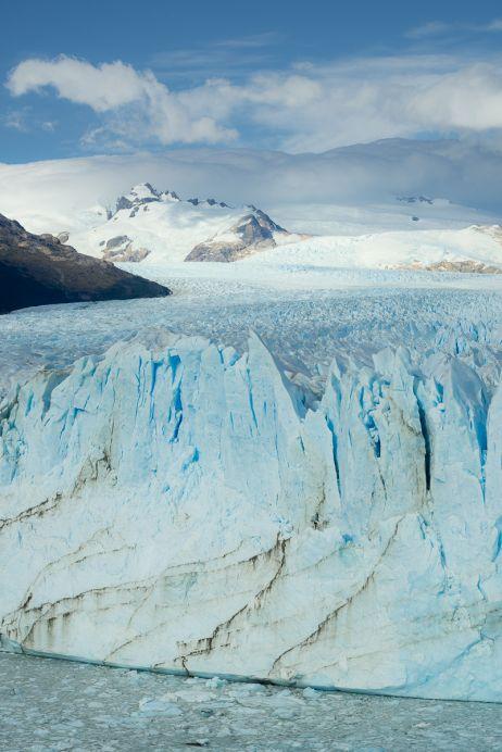 Die 80 m hohe Abbruchkante des Perito-Moreno-Gletschers