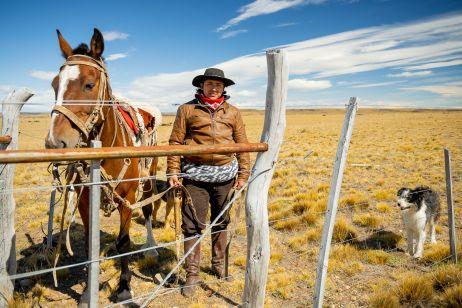 Gaucho in der argentinischen Pampa