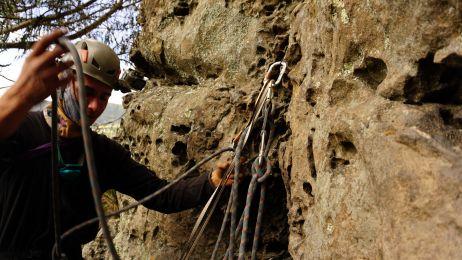 Trad-Klettern will geübt werden