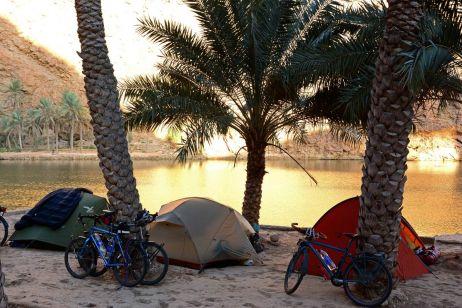 Camp im Wadi Shab