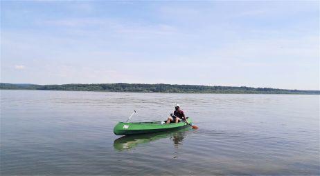 Faltboot im Wasser