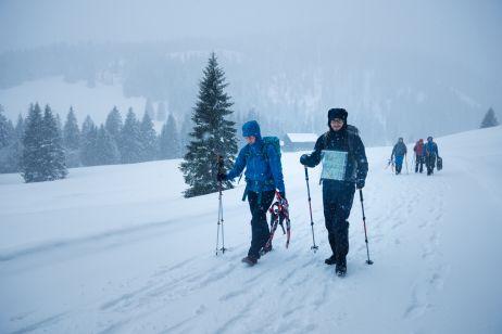 Auf Schneeschuhtour mit dem Jade 38 von Gregory