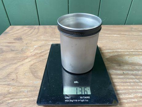 Soto Thermostack - Gewicht für beide Töpfe/Tassen