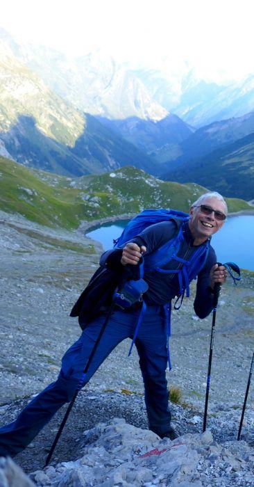 In den Bergen unterwegs - immer mit einem Lächeln!
