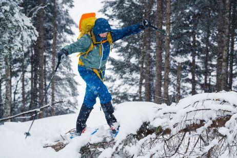 Carsten navigiert elegant durch den Schnee