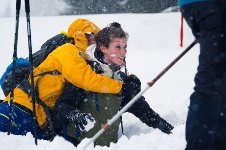 Bei Schnee muss auch ne Schneeballschlacht sein!