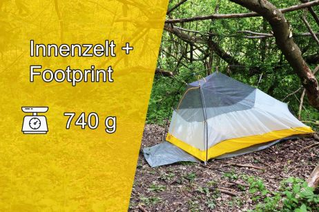 Fly Creek 1 HV UL Bikepack: Innenzelt + Footprint