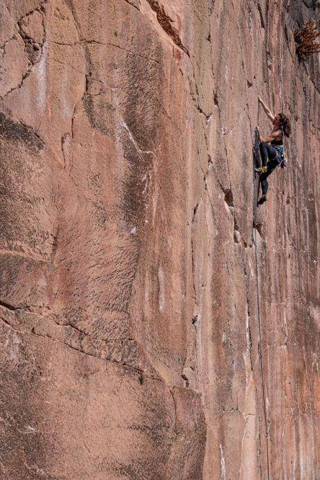 Klettern mit dem Stratos Shift Bra