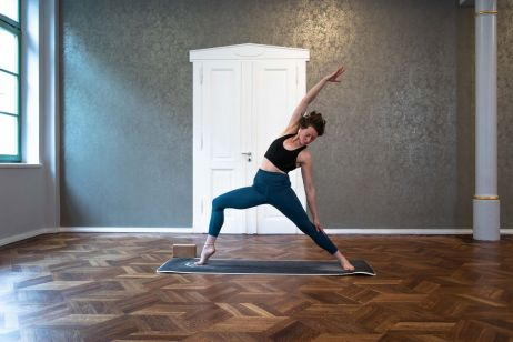 ... und beim Vinyasa Flow Yoga