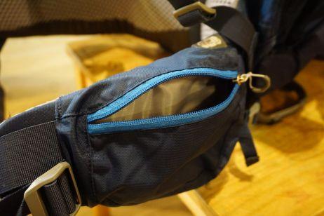 Deuter Kid Comfort Pro: Handliche Taschen auf den Hüftflossen