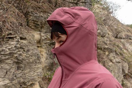 ... wurde bei starkem Wind aber auch ins Gesicht gedrückt