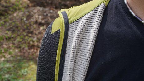 Das Lyocell-Polyester-Elasthan-Gemisch überzeugt