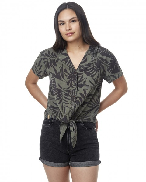 Meander Tie Front Shirt Women