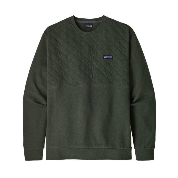 Organic Cotton Quilt Crewneck Sweatshirt Men